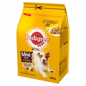 Pedigree Vital Protection Mini Adult <10 kg Karma pełnoporcjowa z kurczakiem i warzywami 400 g