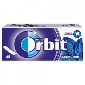 Orbit Strong Mint Guma do żucia bez cukru 39 g (15 listków)