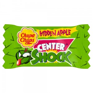 Chupa Chups Center Shock Hidden Apple Guma do żucia o smaku jabłkowym