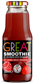 GREAT SMOOTHIE MALINA BURAK TRUSKAWKA