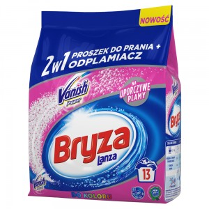 Bryza Lanza Vanish Power Proszek do prania + odplamiacz 2w1 do koloru 1 kg (13 prań)